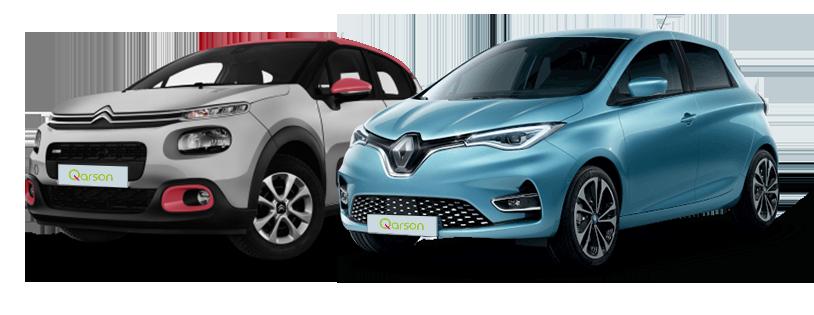 Citroën C3 et Renault Zoé