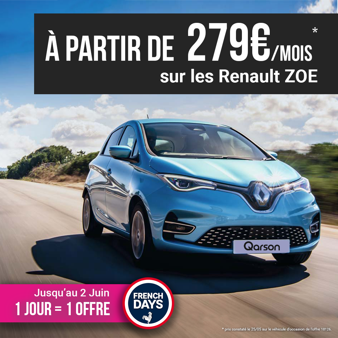 Renault Zoé offre french days