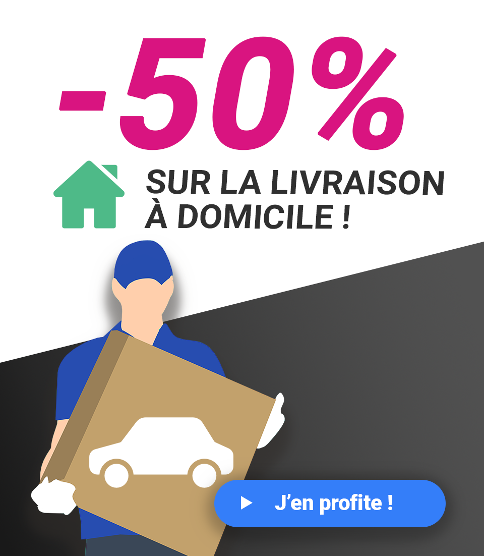 livraison à domicile à -50%