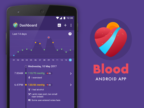 Blood app UI design for Android