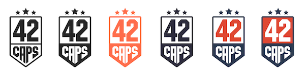 42caps logo colours