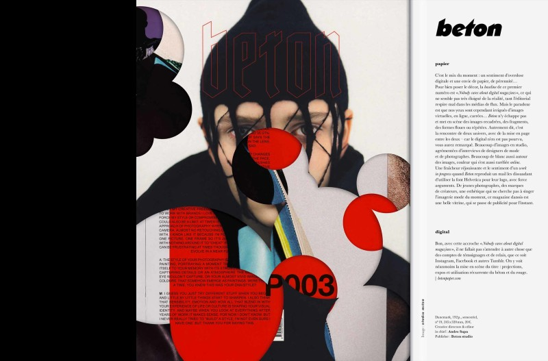 Studio Mitsu for Magazine Magazine numero 27.  Artwork, editorial design, graphic design, collage, digital collage, layout, typography, fashion, art direction.