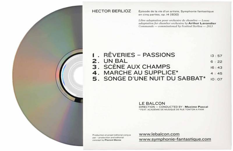 Studio Mitsu for Le Balcon. Symphonie Fantastique Berlioz. CD-rom Graphic design, typography, design, editorial design, packaging.