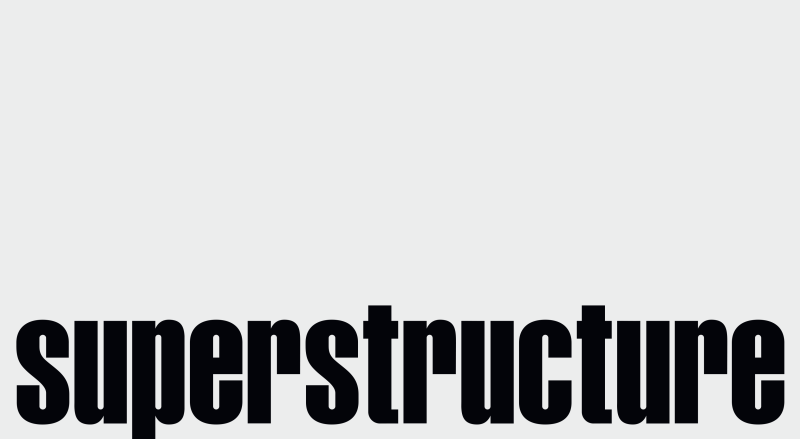 Graphic design and logotype design for Superstructure production, art direction, visual identity