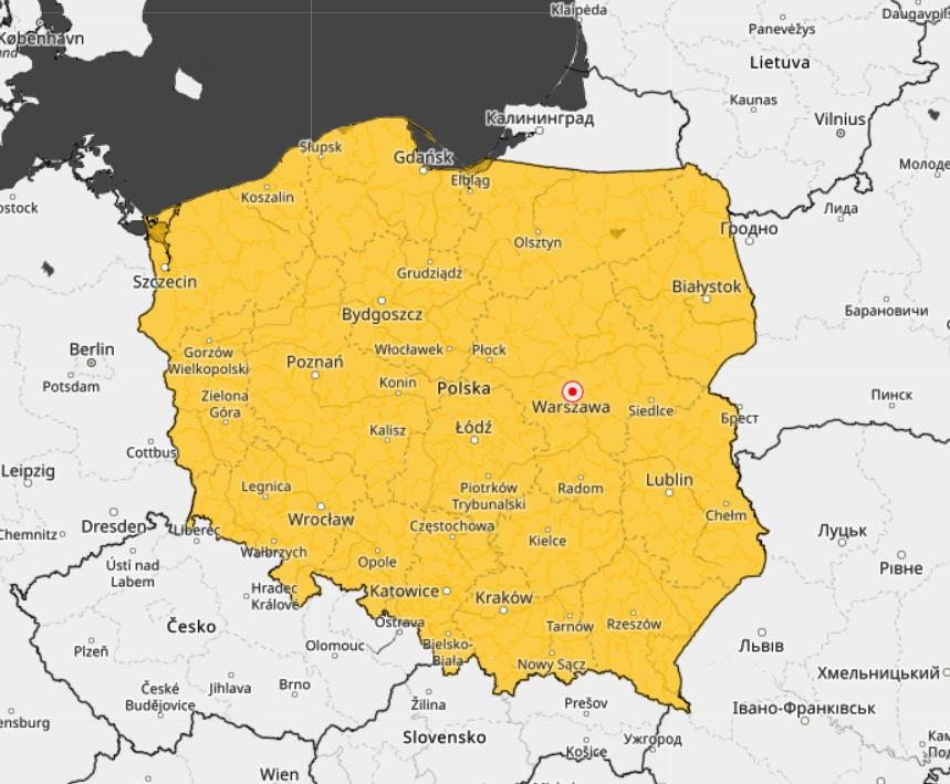 imgw pogoda Polska mapa
