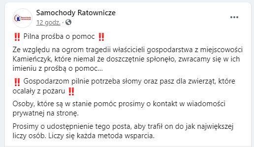 Samochody Ratownicze/Facebook
