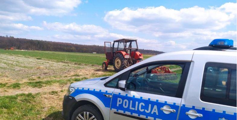 Ciągnik - policja