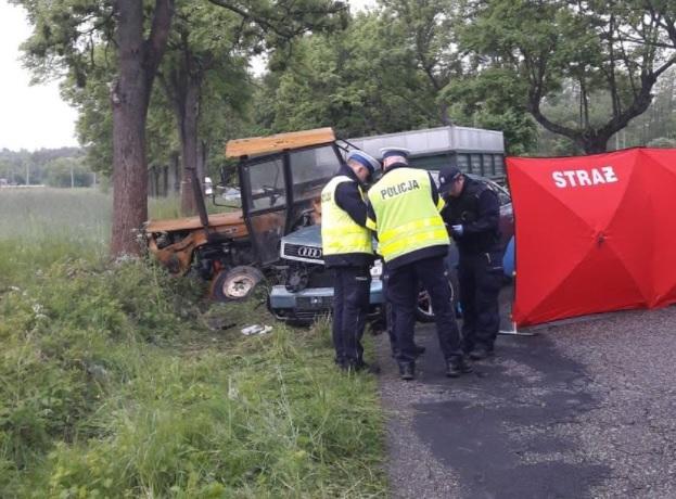 wypadek ciągnik