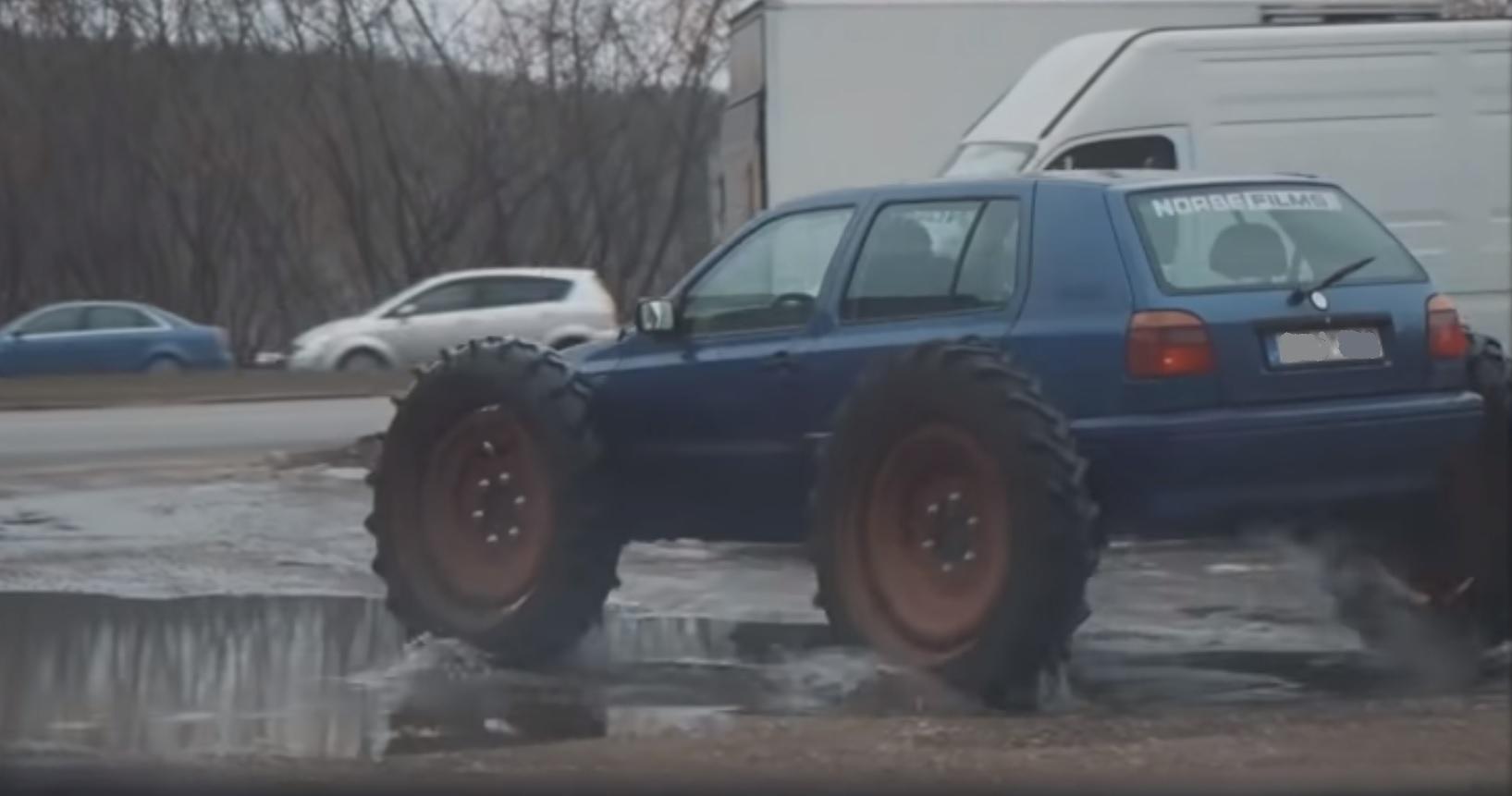 traktor samochód