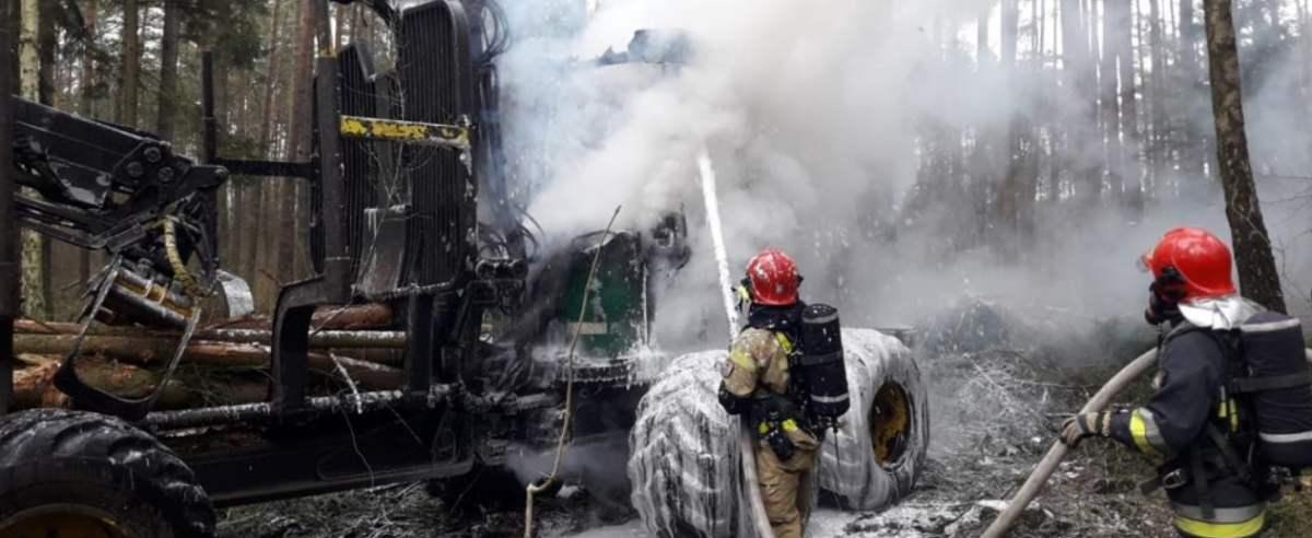 pożar ciągnik