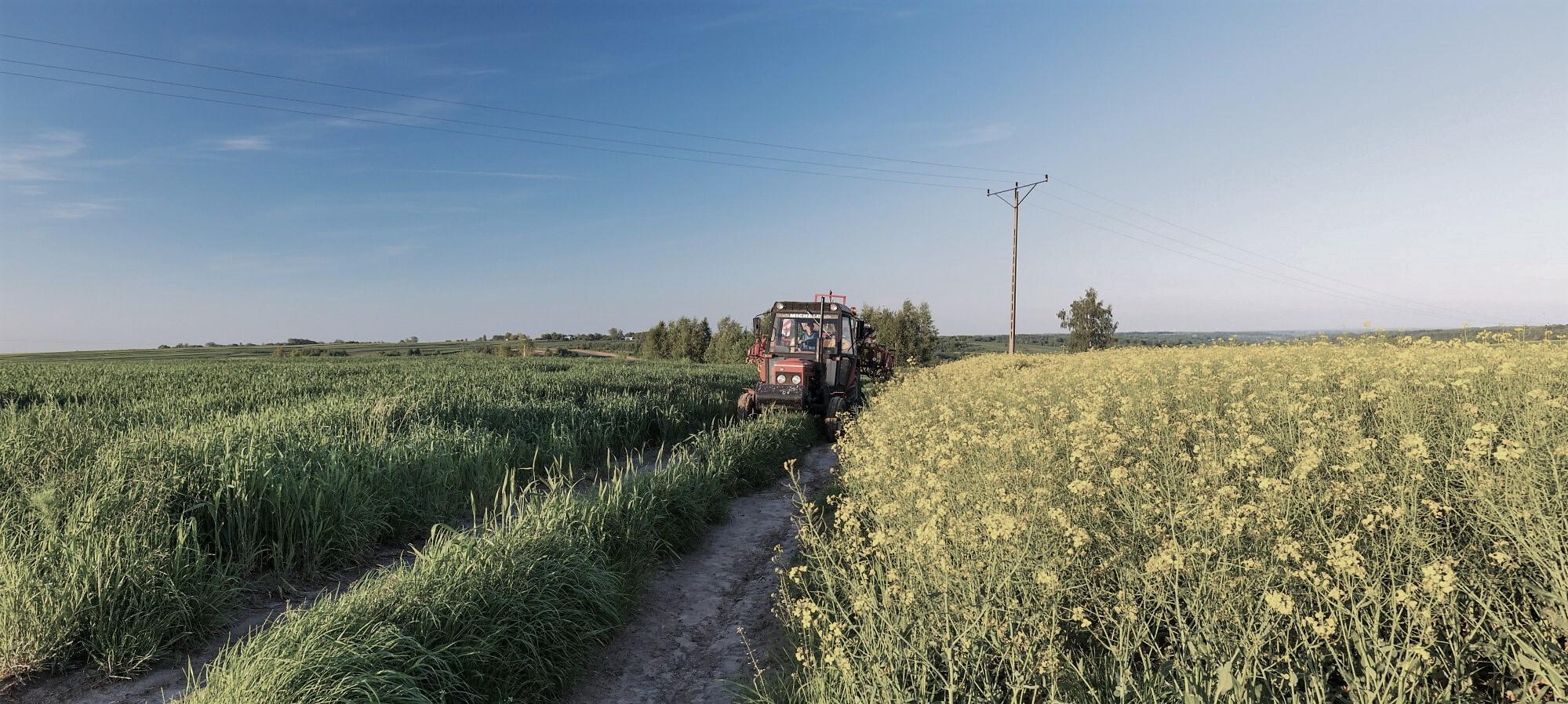 polna droga traktor
