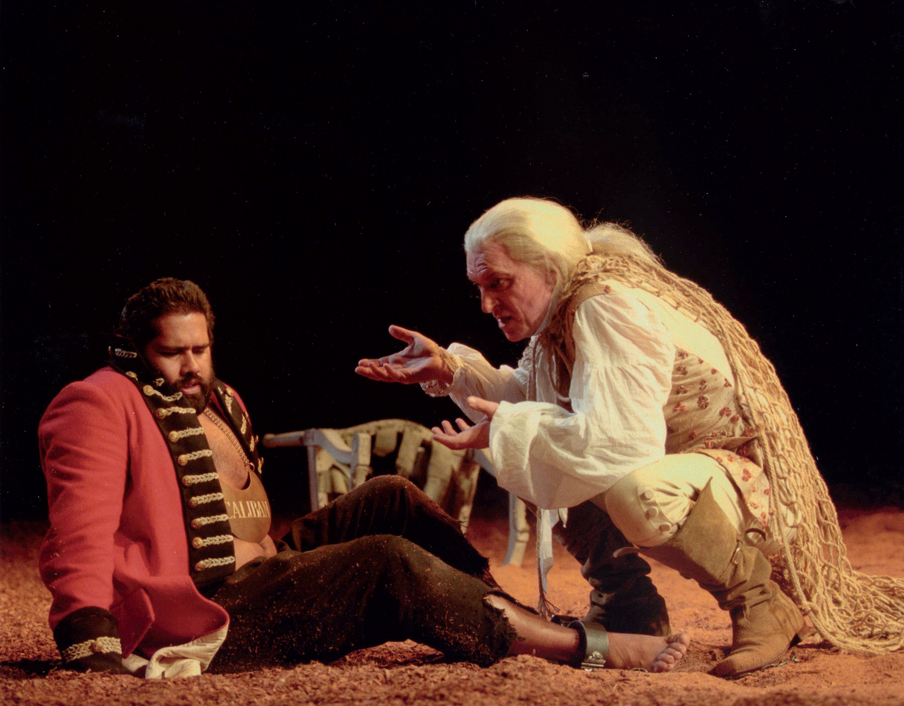 Caliban with Prospero, The Tempest