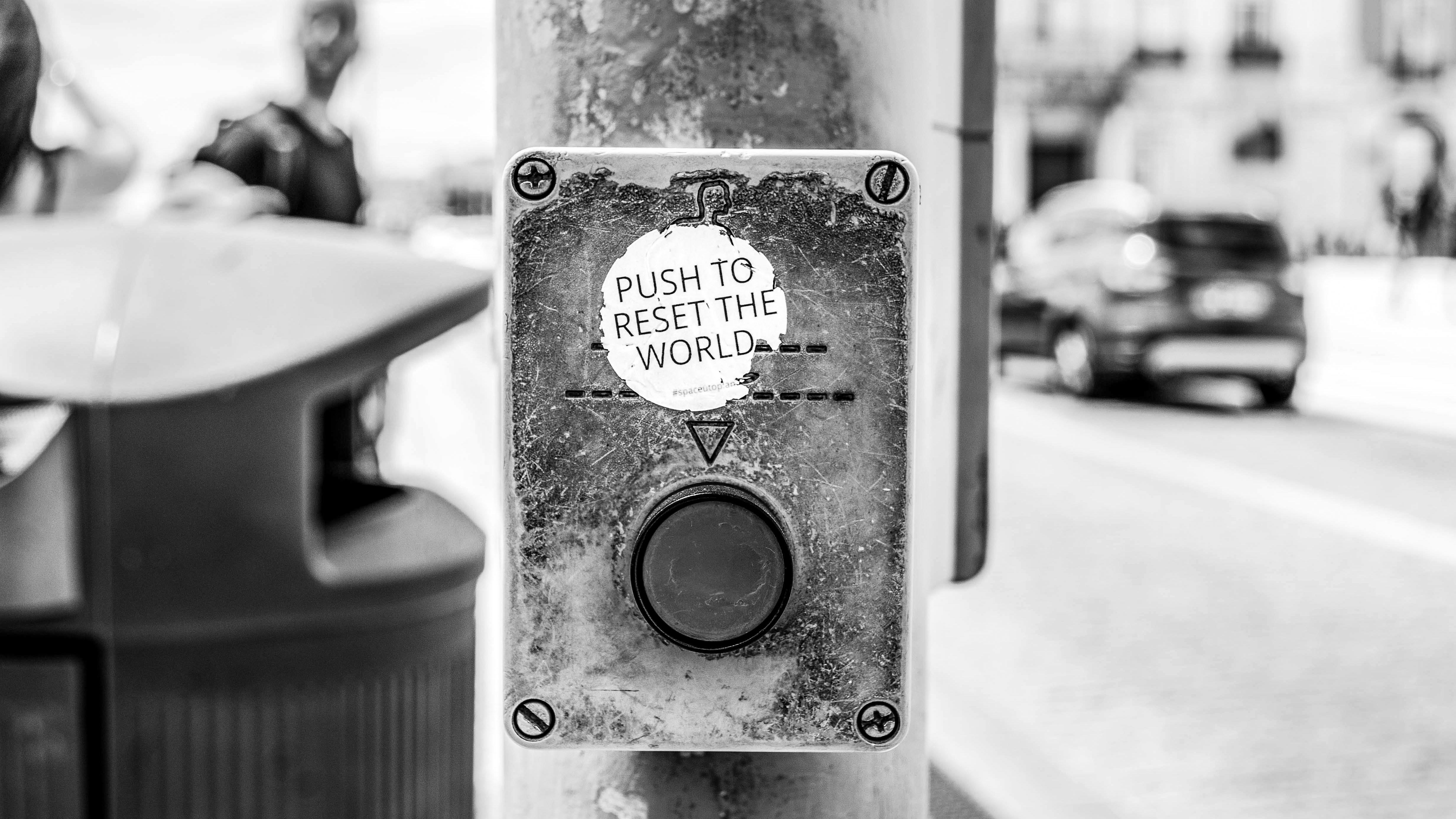 Push to reset the world By jose-antonio-gallego-vázquez