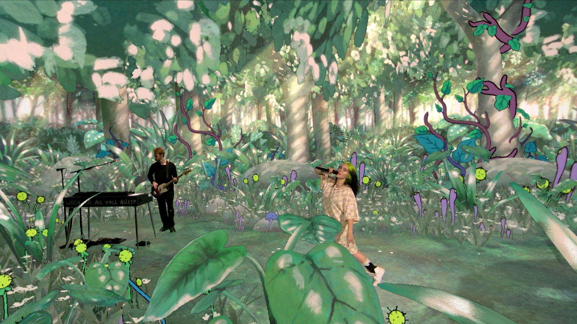 Billie Eilish's WHERE DO WE GO? virtual concert