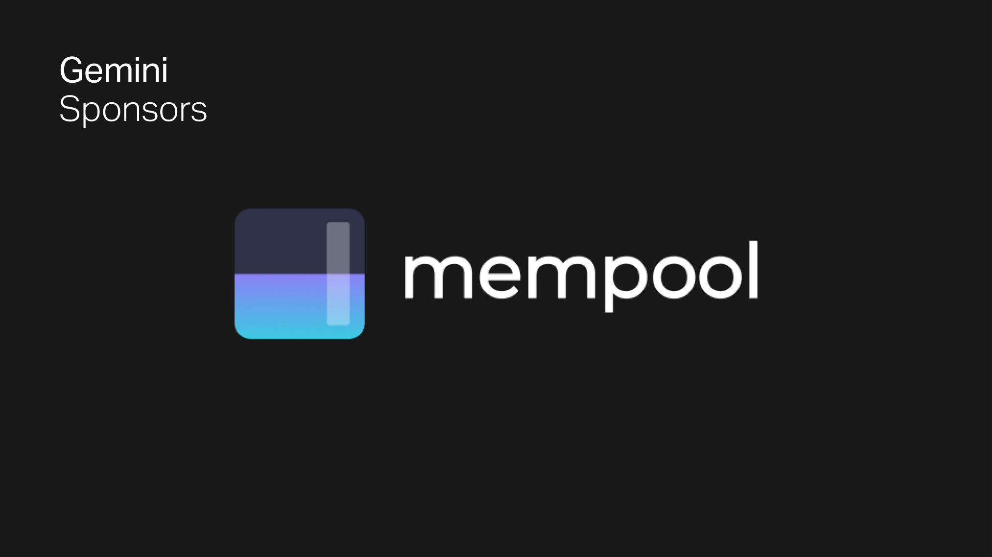 Gemini Supports Bitcoin Ecosystem With $25K Mempool.space Sponsorship
