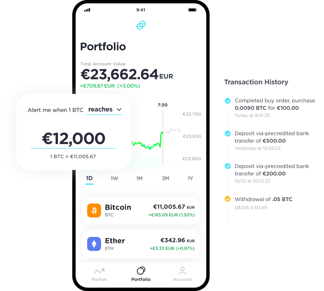 Gemini Exchange Mobile App