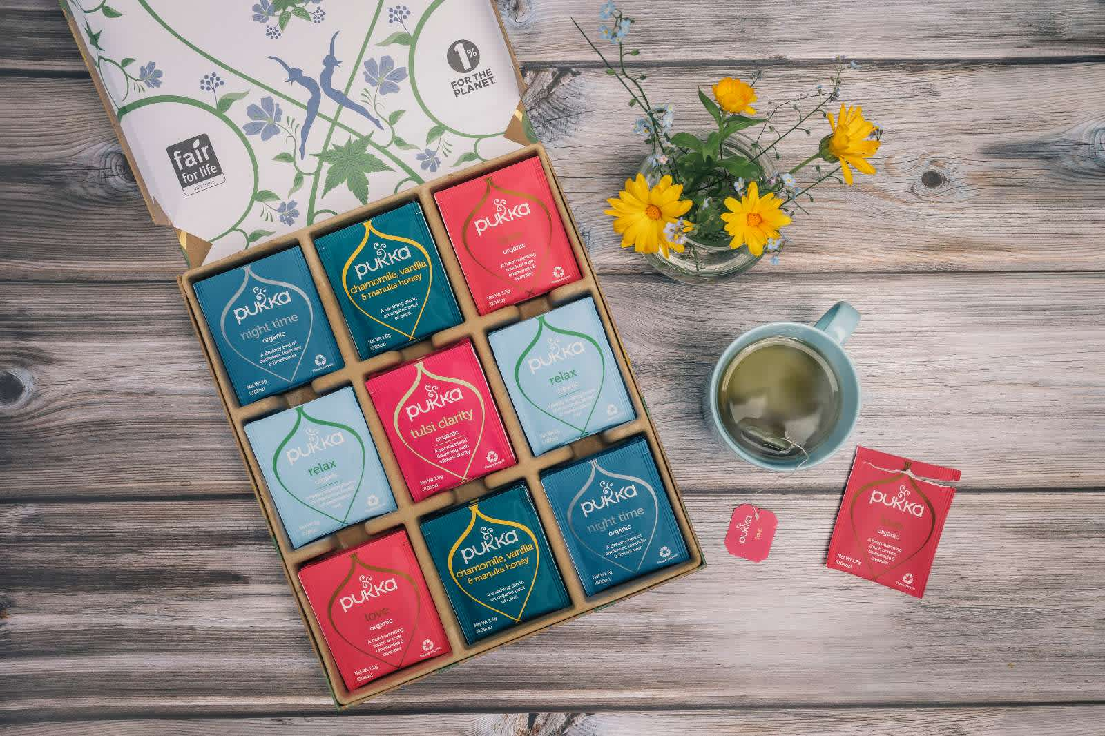 Relax tea selection box lifestyle pic banner