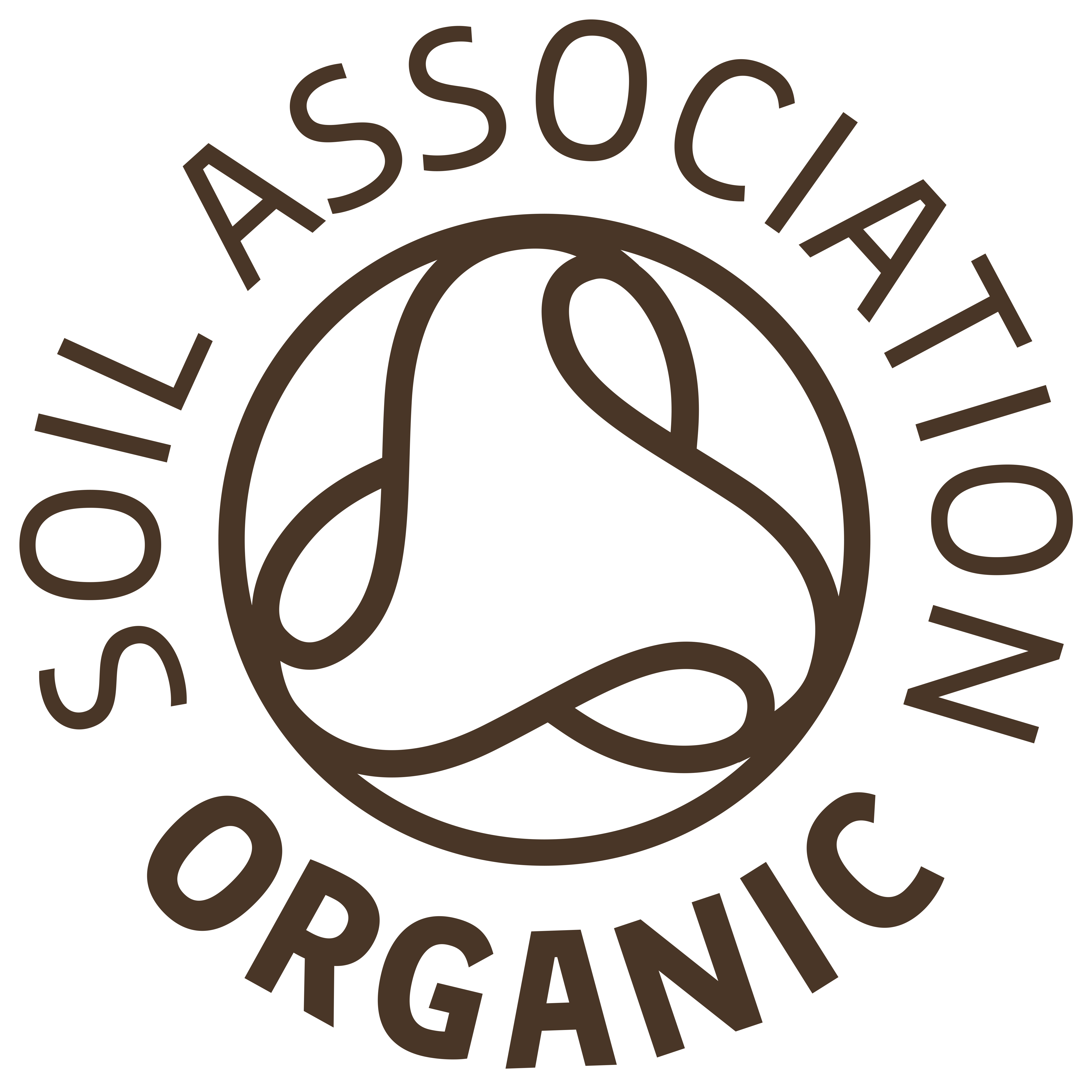 Soil Association logo brown
