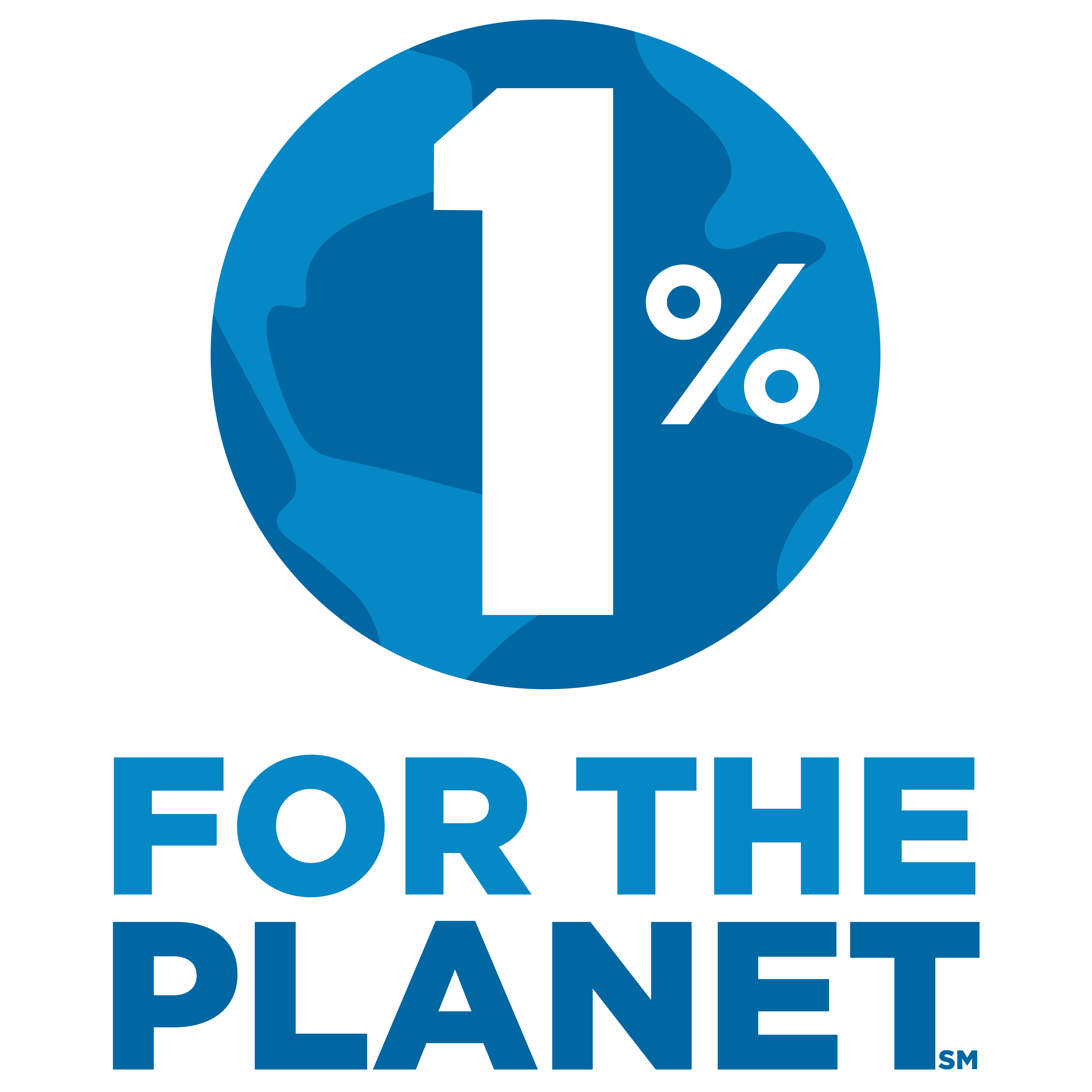 1% for the planet logo colour