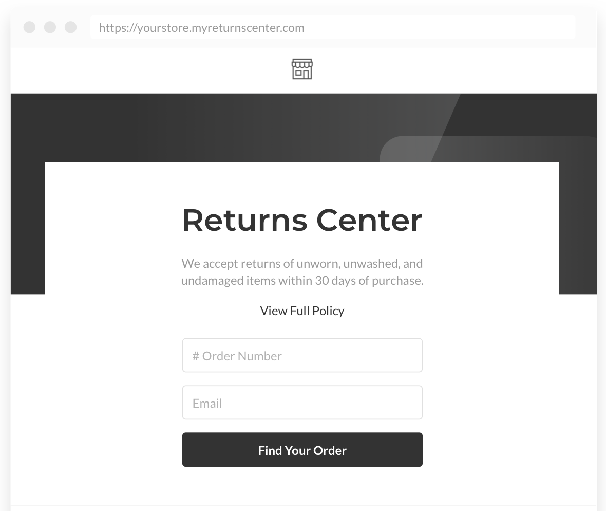 returns page