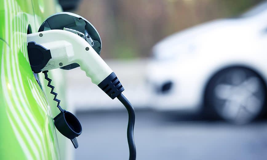 charging green car - edited