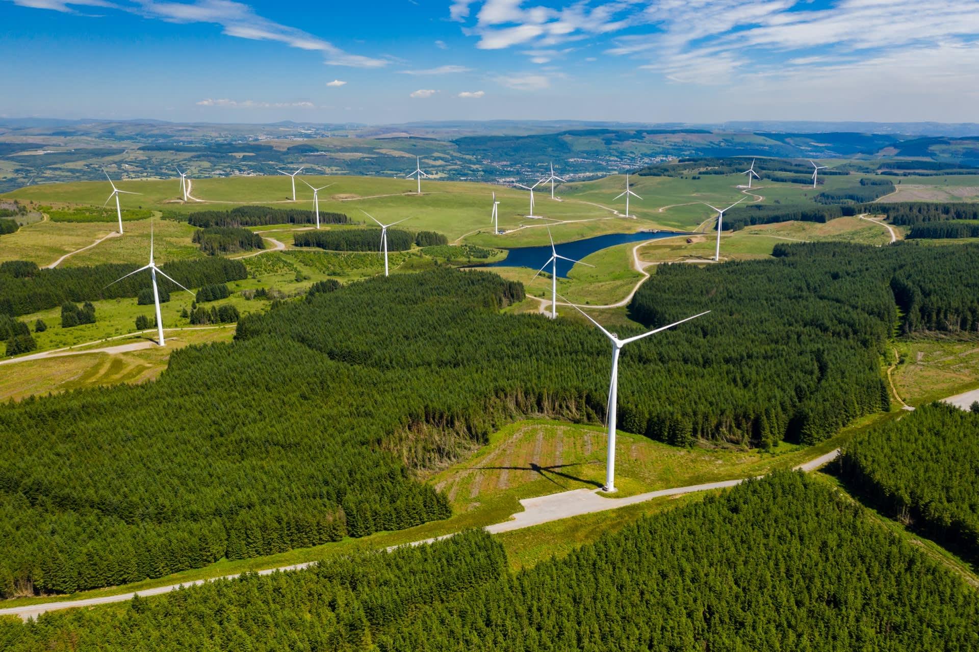 Wind farm site in Wales