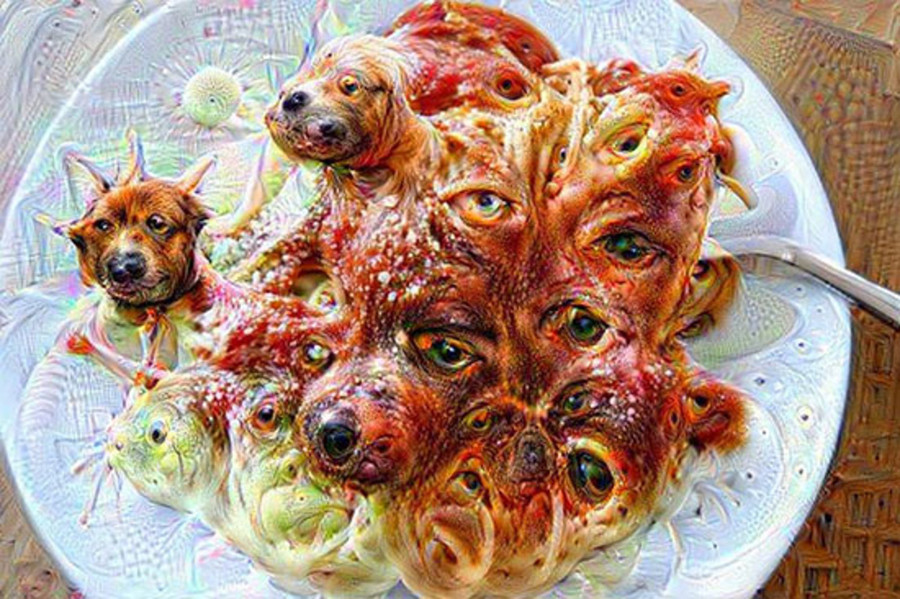 spaghetti meatballs become really frightening - source unknown
