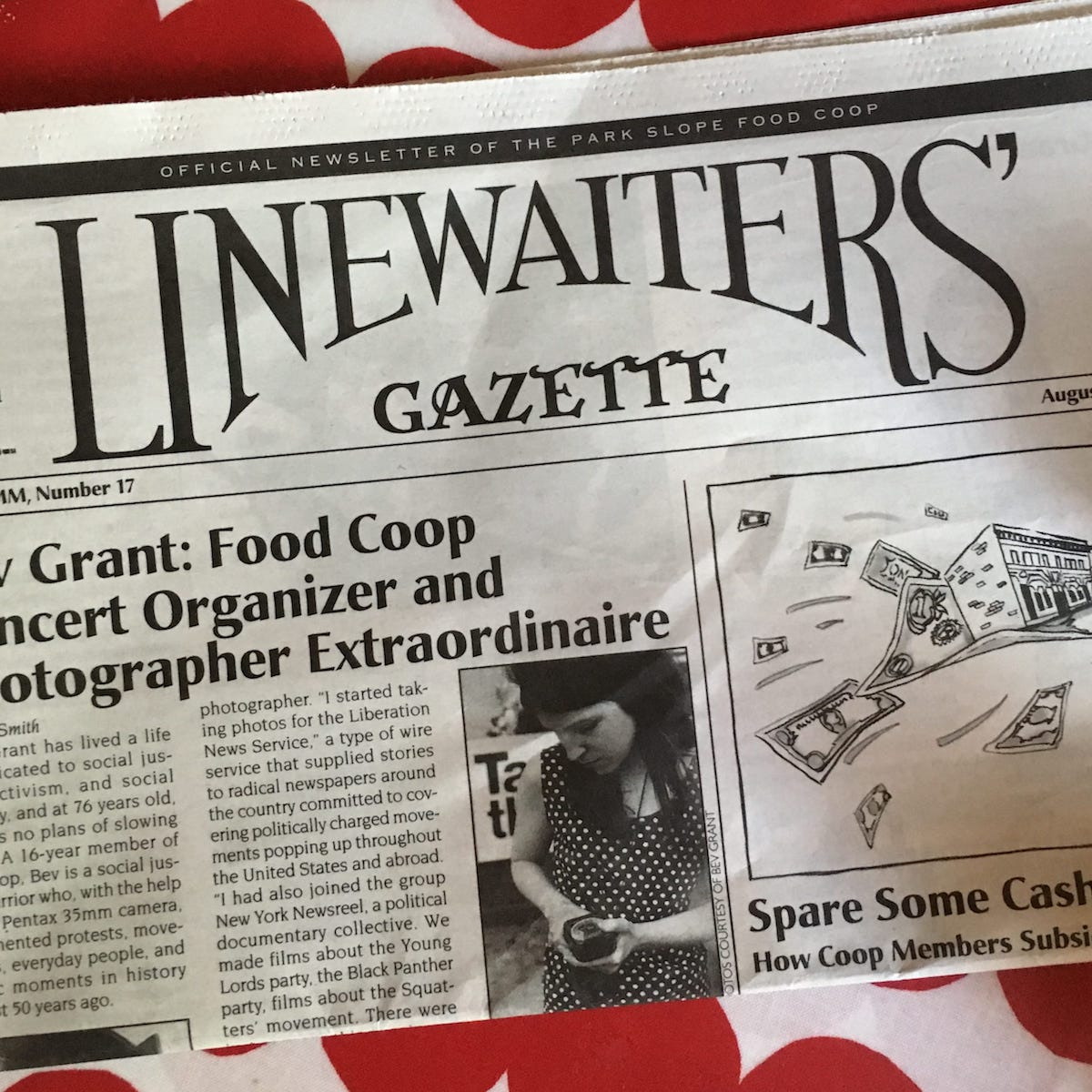 Photo of Park Slope Food Coop Newspaper - The Linewaiters' Gazette