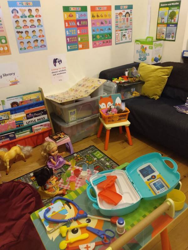 Sybil's funtastic tiney home nursery - setting image