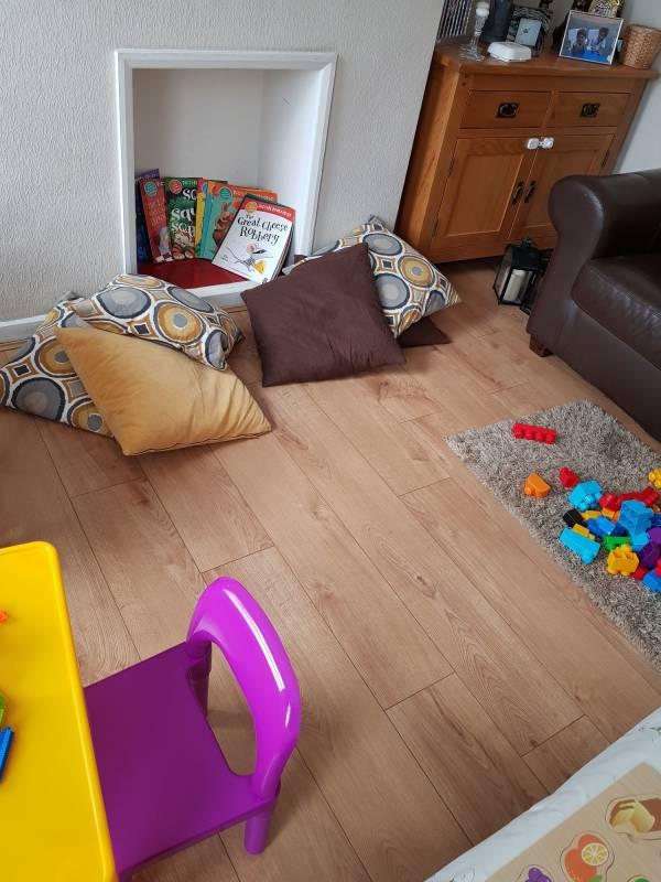 Emilia's tiney home nursery - setting image