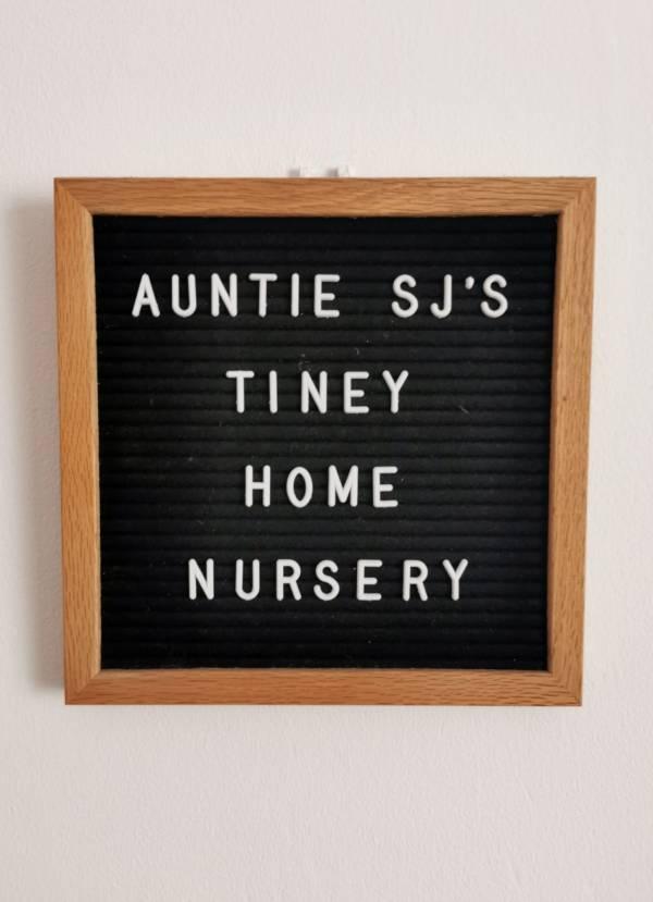 Auntie SJ's tiney home nursery - setting image