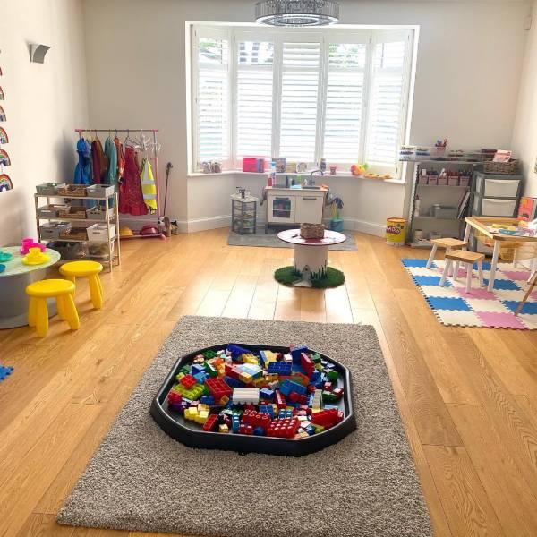 tiney Treasures Playhouse tiney home nursery - setting image