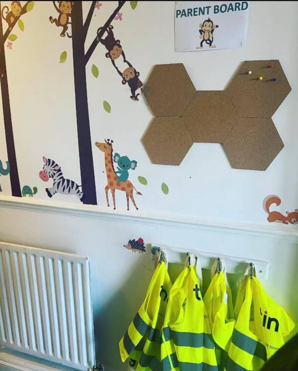 Rainbow tiney home nursery - setting image