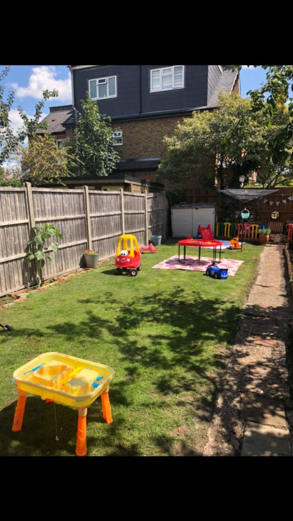 Angie and Libby's tiney home nursery - setting image