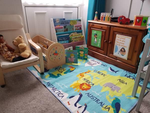 Uniquely Precious tiney home nursery - setting image