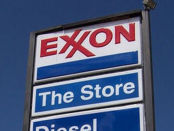 Exxon gas station sign
