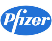 Pfizer logo in blue