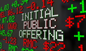 Initial Public Offering Written on Stock Board