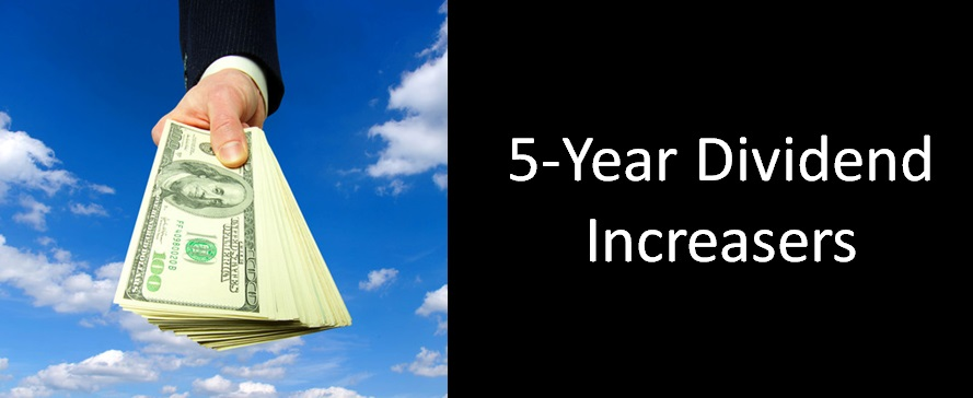 5 year dividend increasers
