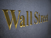 Wall Street sign in gold