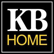 KB Home Logo black white and yello