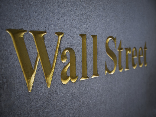 Wall Street sign in gold letters