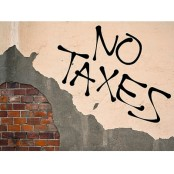 image of no taxes on brick