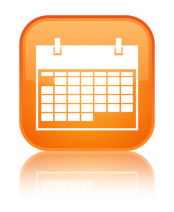 white calendar on orange background