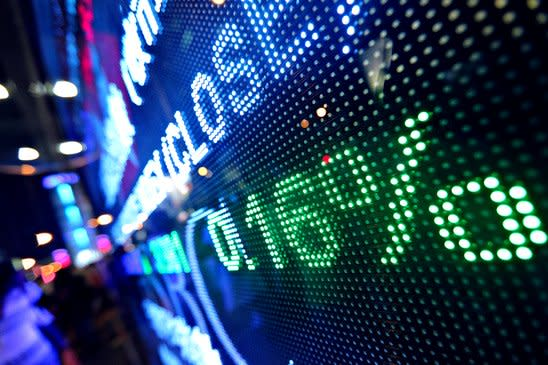 stock market screen
