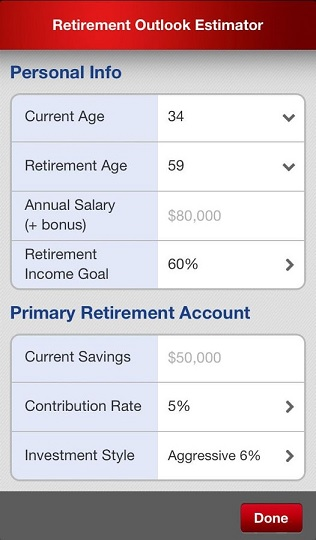Retirement Outllok screenshot 3