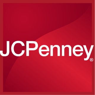 JC Penney logo white on red