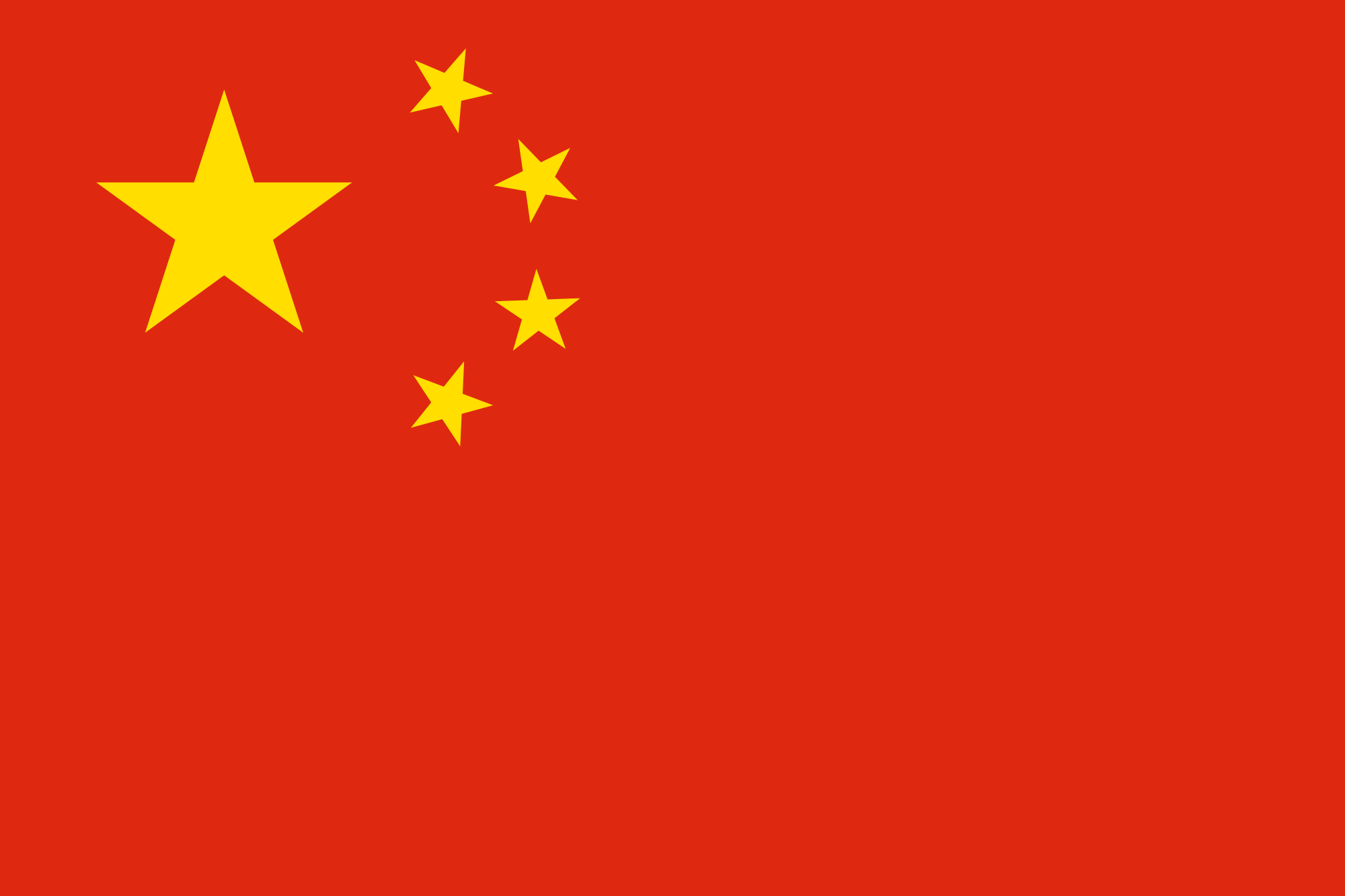 Chinese Flag red and yellow