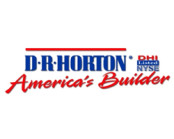 DR Horton Logo in blue and red