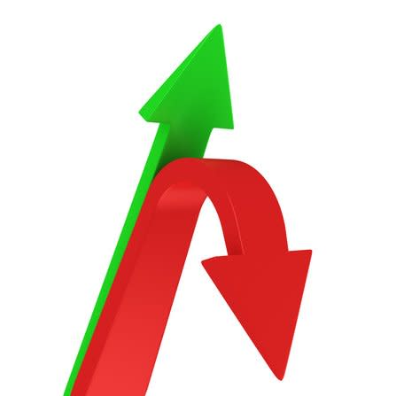 green arrow up red arrow down